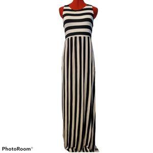 Bellamie Striped Racerback Maxi Dress SZ L